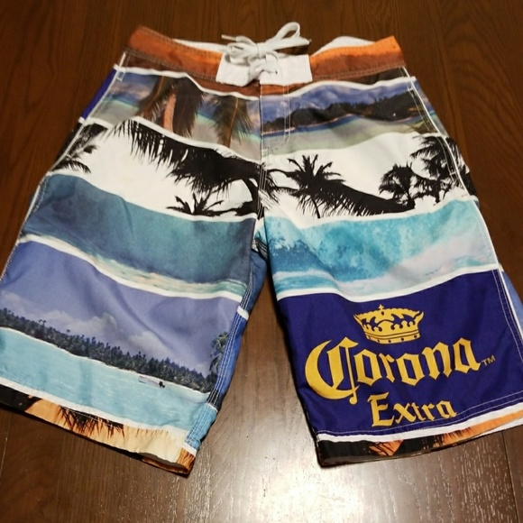 764c36a710 Corona Extra Other - Corona Extra beach scene swim trunks EUC 30